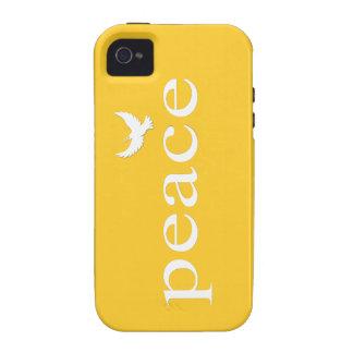 Cita inspirada amarilla de la paz iPhone 4 funda