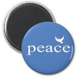 Cita inspirada azul de la paz imán de frigorífico