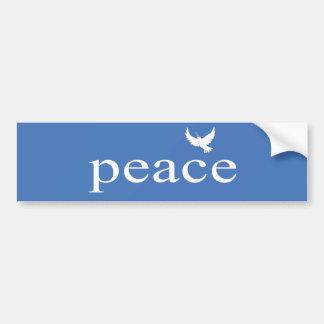 Cita inspirada azul de la paz pegatina para auto