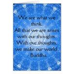 CITA inspirada budista Felicitación