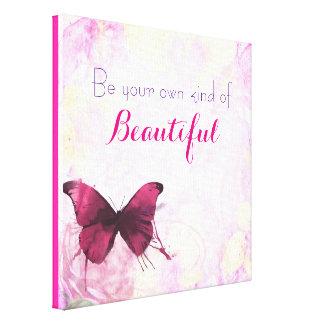 Cita inspirada con una mariposa de la acuarela impresión en lienzo