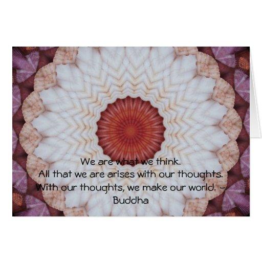 CITA inspirada de Buda Felicitación