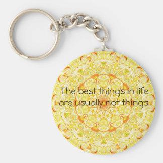 Cita inspirada de Buda Llavero Redondo Tipo Pin
