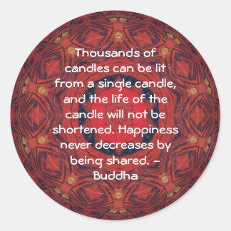 CITA inspirada de Buda - millares de velas Pegatina Redonda