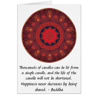 CITA inspirada de Buda - millares de velas Tarjeta De Felicitación