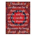 CITA inspirada de Buda - millares de velas Tarjetas Postales