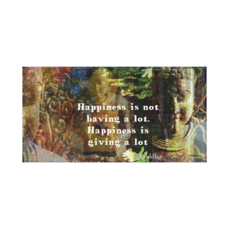 Cita inspirada de BUDA sobre ARTE de la felicidad Impresion De Lienzo