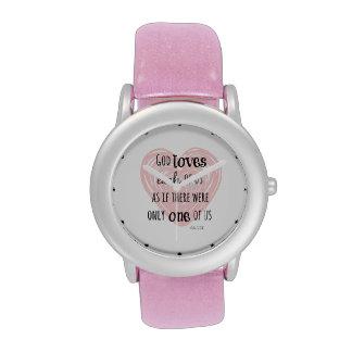 Cita inspirada de dios y del amor reloj de mano