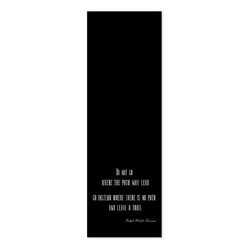 Cita inspirada de Emerson del vintage en negro Tarjetas Personales