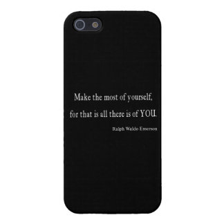 Cita inspirada de Emerson del vintage - personaliz iPhone 5 Fundas