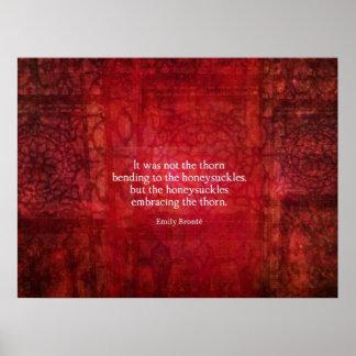 Cita inspirada de Emily Bronte Póster