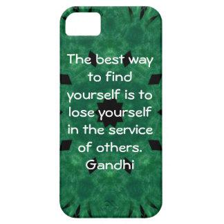 Cita inspirada de Gandhi sobre esfuerzo personal iPhone 5 Cobertura