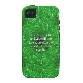 Cita inspirada de Gandhi sobre esfuerzo personal iPhone 4 Carcasas
