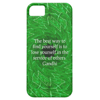 Cita inspirada de Gandhi sobre esfuerzo personal iPhone 5 Case-Mate Protectores
