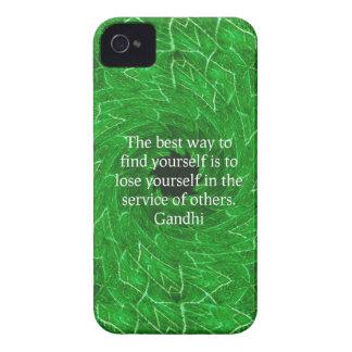 Cita inspirada de Gandhi sobre esfuerzo personal Case-Mate iPhone 4 Cobertura