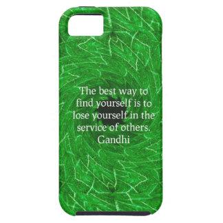 Cita inspirada de Gandhi sobre esfuerzo personal iPhone 5 Case-Mate Carcasas