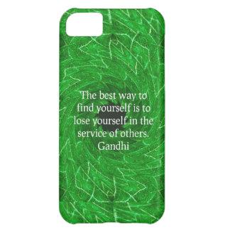 Cita inspirada de Gandhi sobre esfuerzo personal Funda Para iPhone 5C