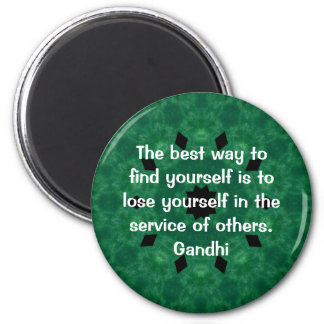 Cita inspirada de Gandhi sobre esfuerzo personal Imán Redondo 5 Cm