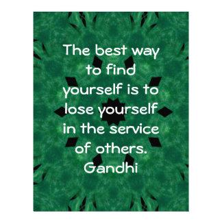Cita inspirada de Gandhi sobre esfuerzo personal Membrete A Diseño
