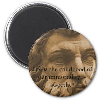 Cita inspirada de Goethe Imán Redondo 5 Cm