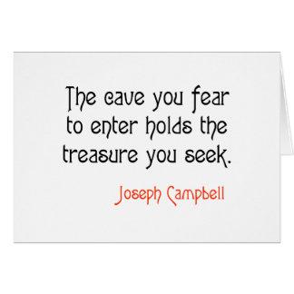 Cita inspirada de Joseph Campbell de la cueva Felicitaciones
