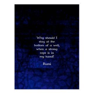 Cita inspirada de la acción de Rumi que toma Tarjetas Postales