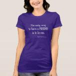 Cita inspirada de la amistad de Emerson del Camisetas