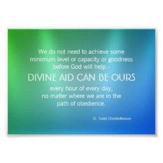Cita inspirada de la ayuda divina cojinete