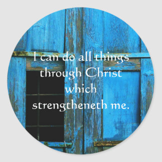 Cita inspirada de la biblia - 4 13 de los filipens etiqueta