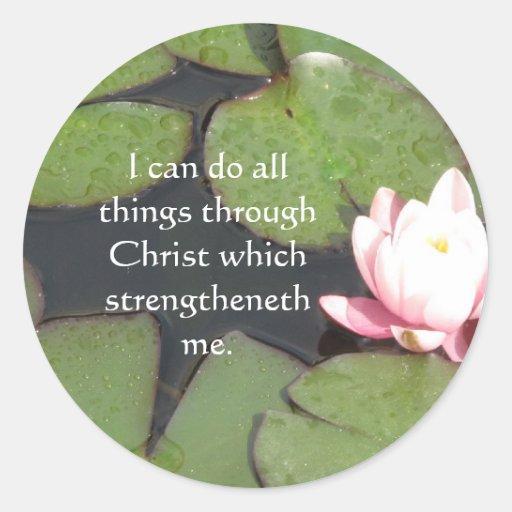 Cita inspirada de la biblia - 4:13 de los pegatinas redondas