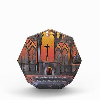 Cita inspirada de la cruz artística del santuario