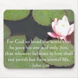 Cita inspirada de la escritura del 3:16 de Juan Tapetes De Raton