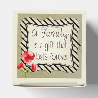 Cita inspirada de la familia caja para regalo de boda