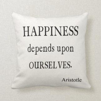 Cita inspirada de la felicidad de Aristóteles del  Cojines