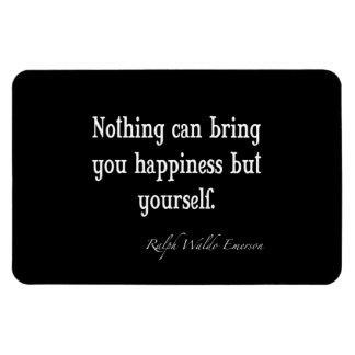 Cita inspirada de la felicidad de Emerson del vint Iman Rectangular