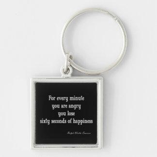Cita inspirada de la felicidad de Emerson del vint Llavero Personalizado