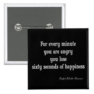 Cita inspirada de la felicidad de Emerson del vint Pins
