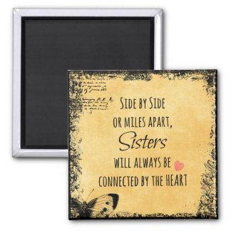 Cita inspirada de la hermana imán cuadrado