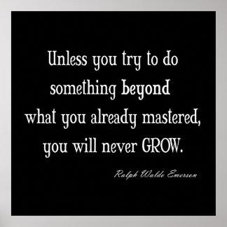 Cita inspirada de la maestría del crecimiento de E Póster