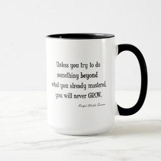 Cita inspirada de la maestría del crecimiento de taza