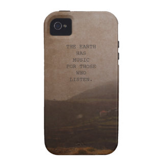 Cita inspirada de la música de la foto de la natur iPhone 4/4S carcasas