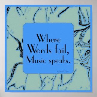 cita inspirada de la música póster