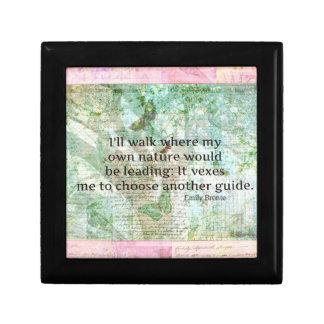 Cita inspirada de la naturaleza de Emily Bronte Cajas De Regalo