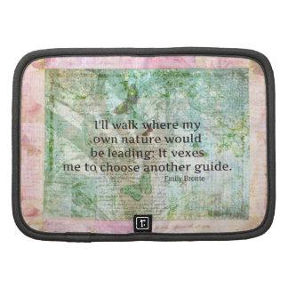 Cita inspirada de la naturaleza de Emily Bronte Planificadores