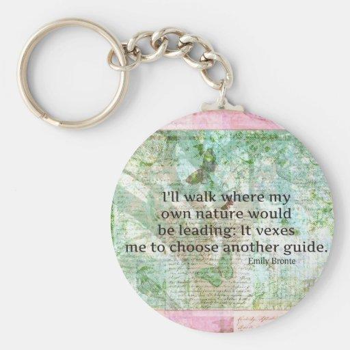 Cita inspirada de la naturaleza de Emily Bronte Llaveros Personalizados