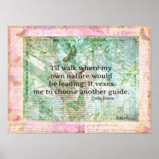 Cita inspirada de la naturaleza de Emily Bronte Póster