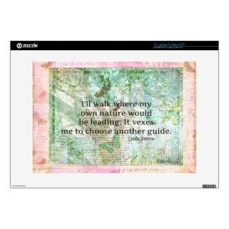 Cita inspirada de la naturaleza de Emily Bronte Portátil 38,1cm Skins