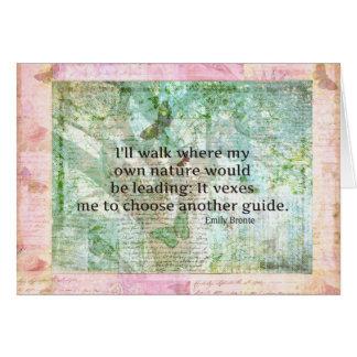 Cita inspirada de la naturaleza de Emily Bronte Tarjetas