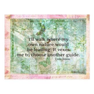 Cita inspirada de la naturaleza de Emily Bronte Postal
