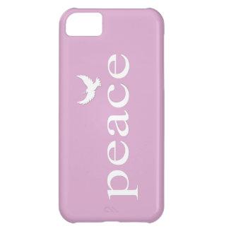Cita inspirada de la paz de la lavanda funda para iPhone 5C
